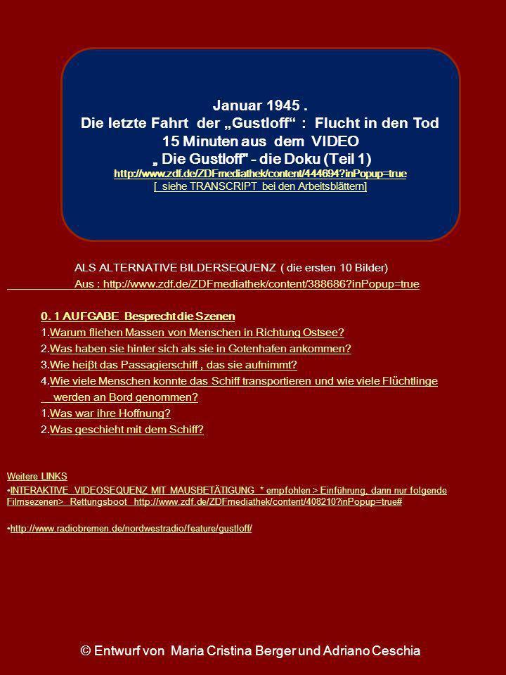 ALS ALTERNATIVE BILDERSEQUENZ ( die ersten 10 Bilder) Aus : http://www.zdf.de/ZDFmediathek/content/388686?inPopup=true 0. 1 AUFGABE Besprecht die Szen