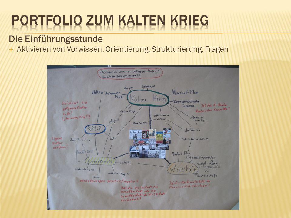 Die Einführungsstunde Aktivieren von Vorwissen, Orientierung, Strukturierung, Fragen