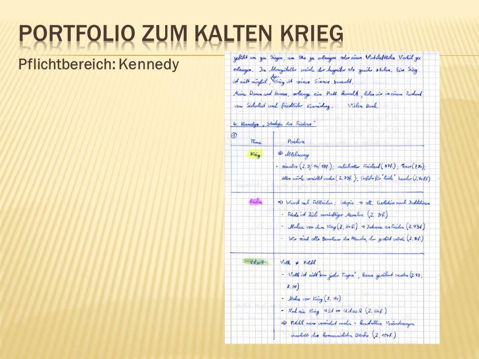 Pflichtbereich: Kennedy