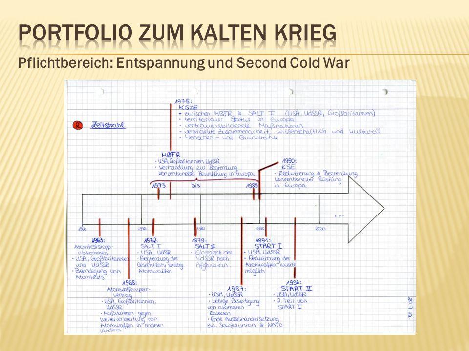 Pflichtbereich: Entspannung und Second Cold War