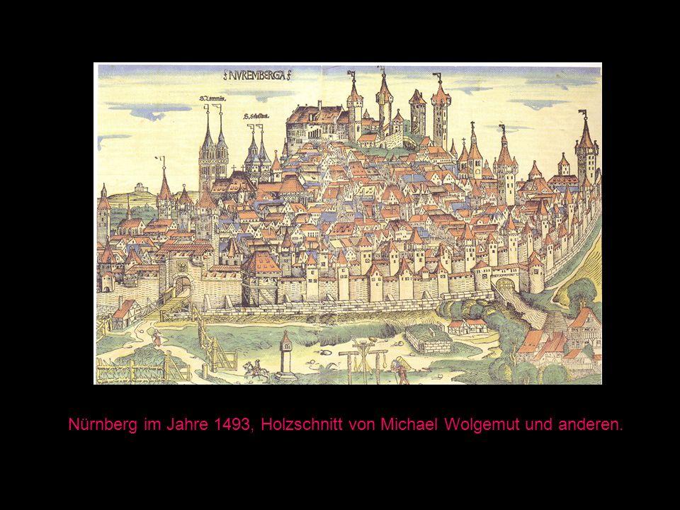 Nürnberg im Jahre 1493, Holzschnitt von Michael Wolgemut und anderen.