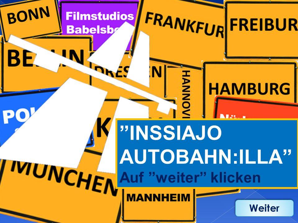 Das Sprach- und Landeskundespiel über Deutschland und den deutschsprachigen Raum - Speziell für Finnland entwickelt I N S S I A J O A U T O B A H N : I L L A Weiter 2011
