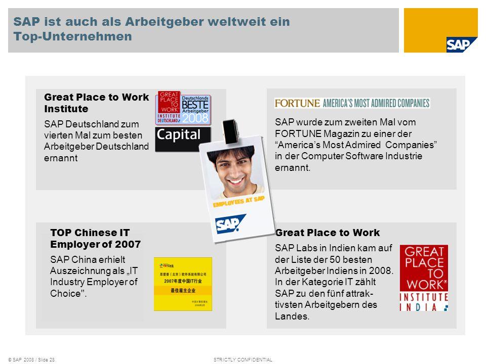 © SAP 2008 / Slide 27STRICTLY CONFIDENTIAL Probleme von ausländischen Kollegen, die nach Deutschland kommen Allgemeine Verhaltensregeln in Deutschland