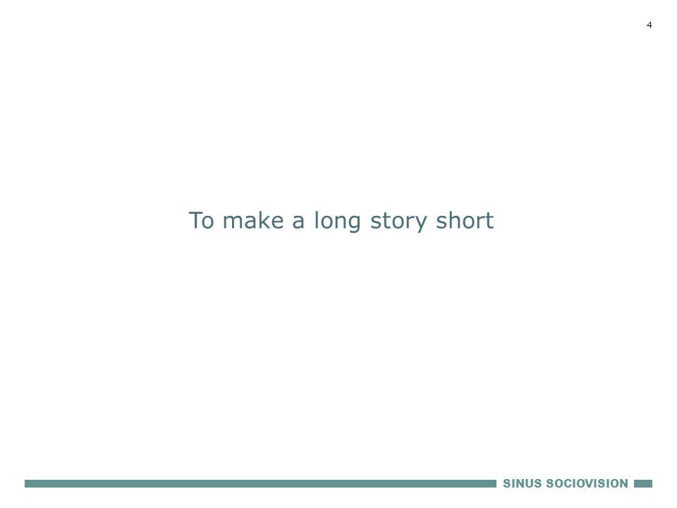 SINUS SOCIOVISION 4 To make a long story short