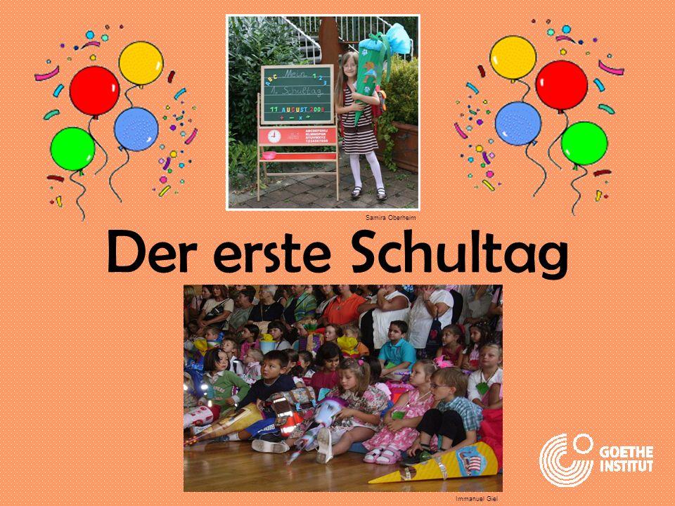 Hallo! Ich heiße Anna. Heute ist mein erster Schultag. pictures: www.colourbox.com
