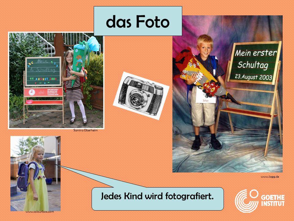 Jedes Kind wird fotografiert. Samira Oberheim www.colourbox.com www.lagg.de das Foto
