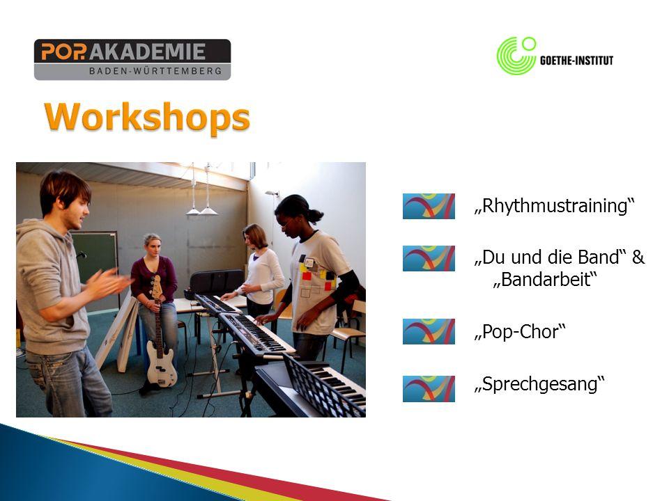 Rhythmustraining Du und die Band & Bandarbeit Pop-Chor Sprechgesang