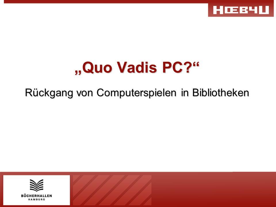 Quo Vadis PC? Rückgang von Computerspielen in Bibliotheken