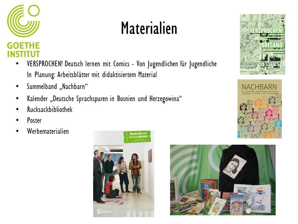 Materialien VERSPROCHEN! Deutsch lernen mit Comics - Von Jugendlichen für Jugendliche In Planung: Arbeitsblätter mit didaktisiertem Material Sammelban