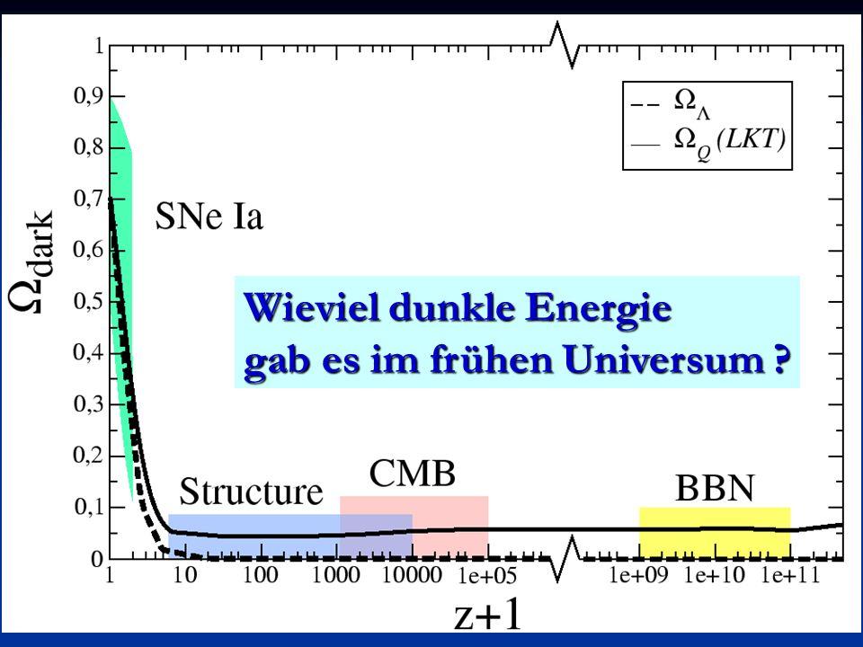 Wieviel dunkle Energie gab es im frühen Universum ?