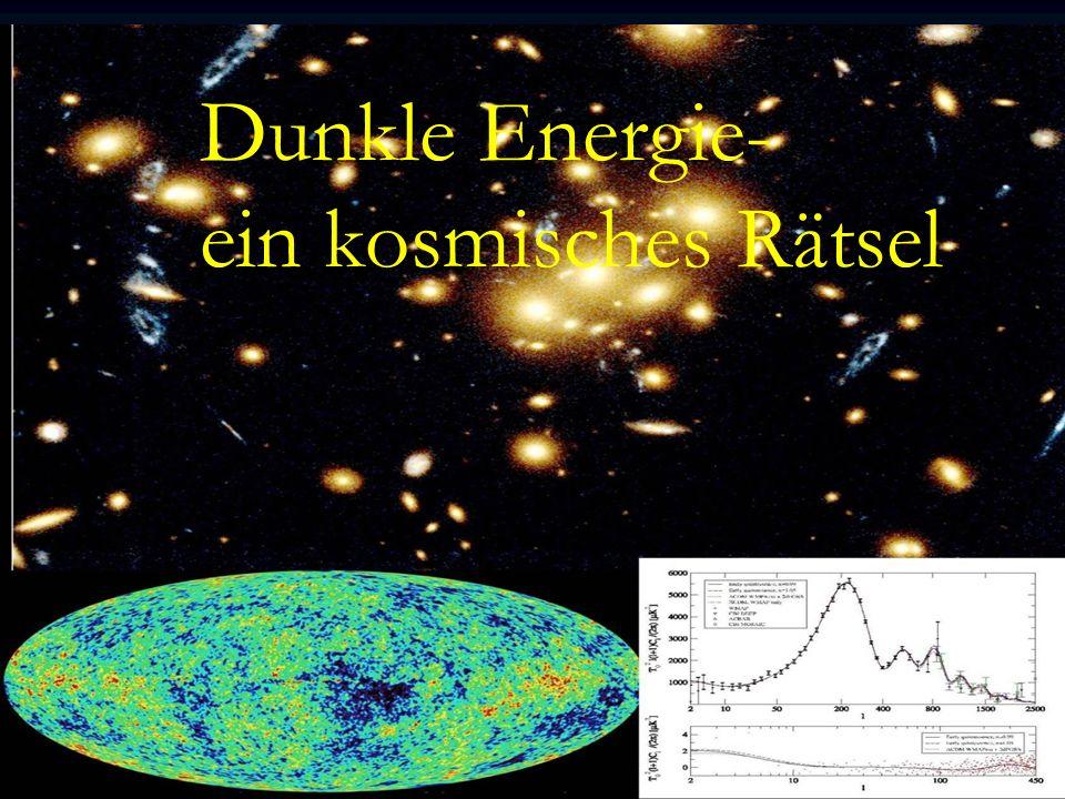 Dunkle Energie – ein kosmisches Rätsel C.Wetterich A.Hebecker,M.Doran,M.Lilley,J.Schwindt, C.Müller,G.Schäfer,E.Thommes, R.Caldwell