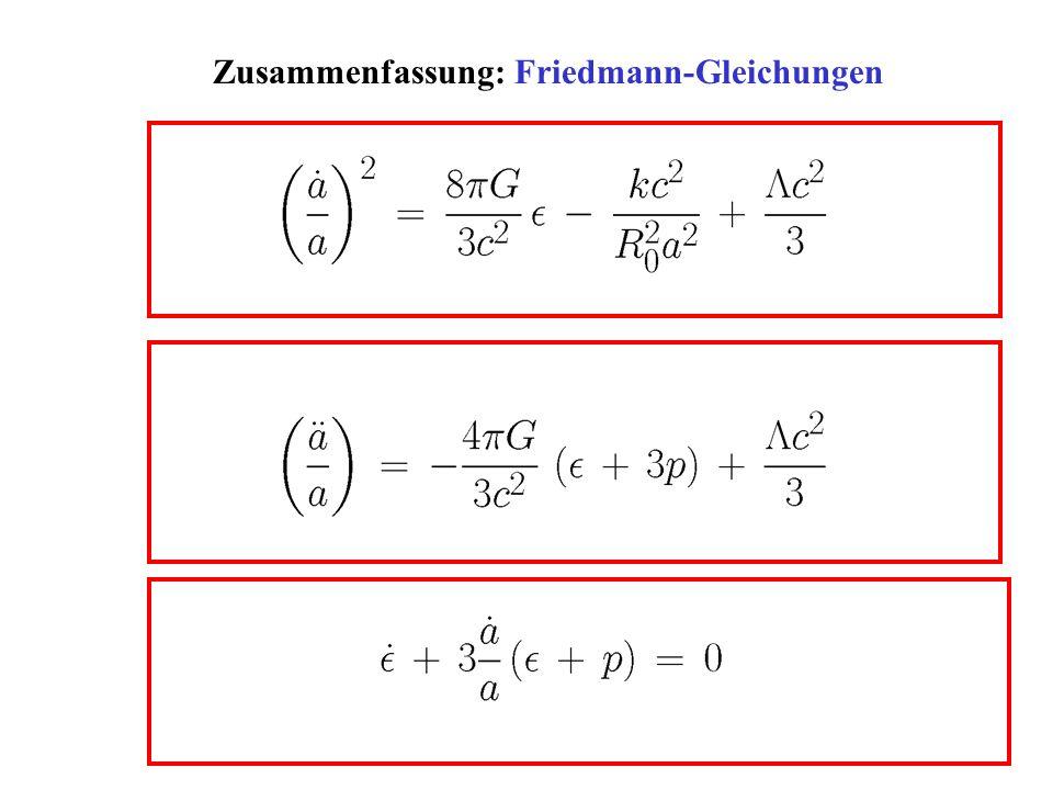 Zusammenfassung: Friedmann-Gleichungen