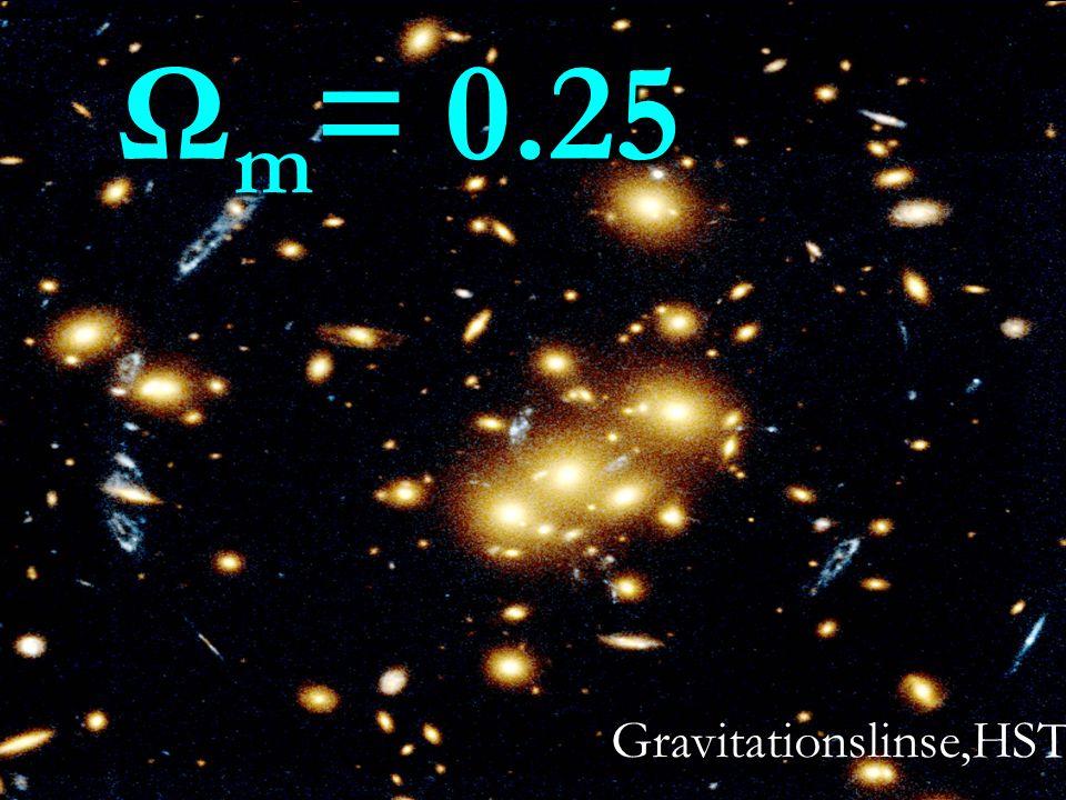 Gravitationslinse,HST Ω m = 0.25