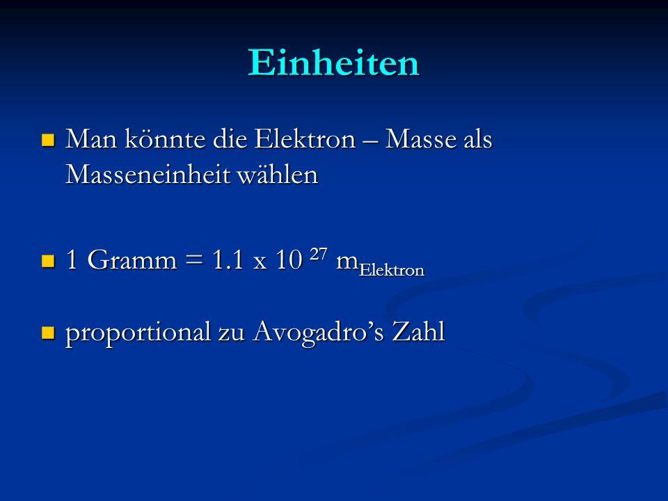 QED dann auch Proton- Masse etc. m e = 1 : einziger dimensionsloser Parameter e