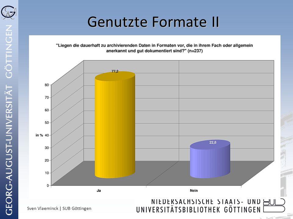 Sven Vlaeminck | SUB Göttingen Genutzte Formate II