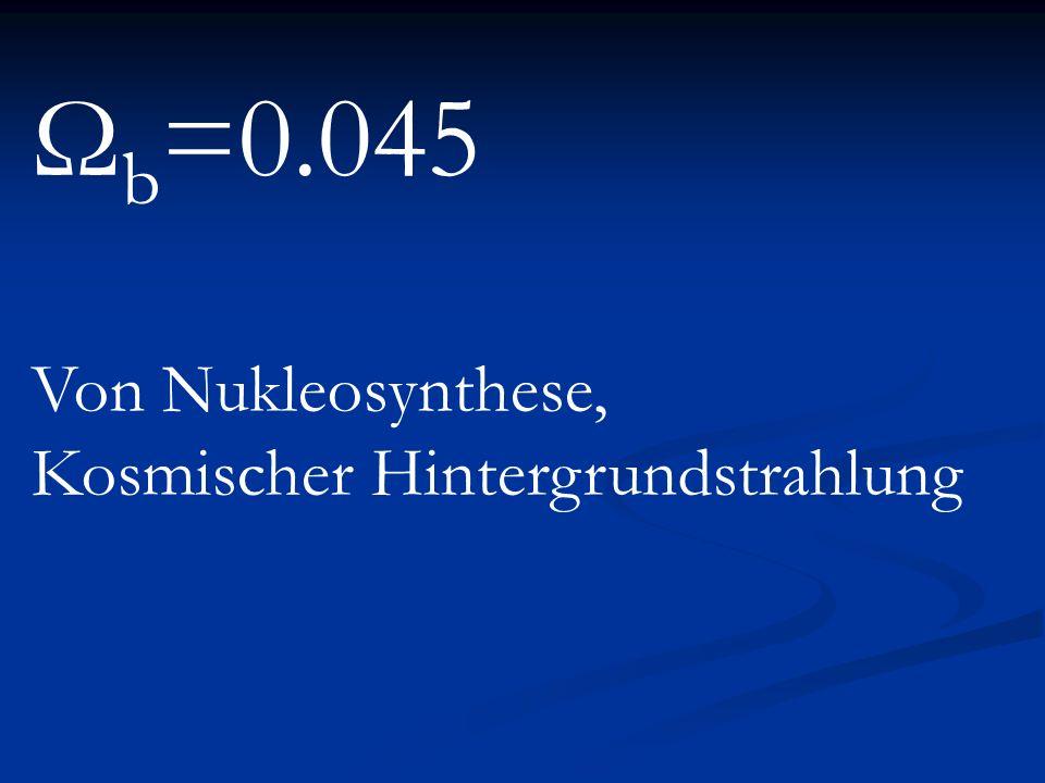 Ω b =0.045 Von Nukleosynthese, Kosmischer Hintergrundstrahlung