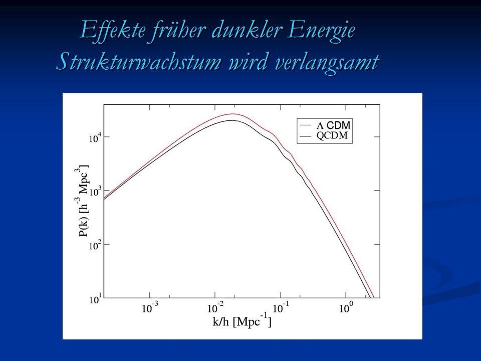 Effekte früher dunkler Energie Strukturwachstum wird verlangsamt
