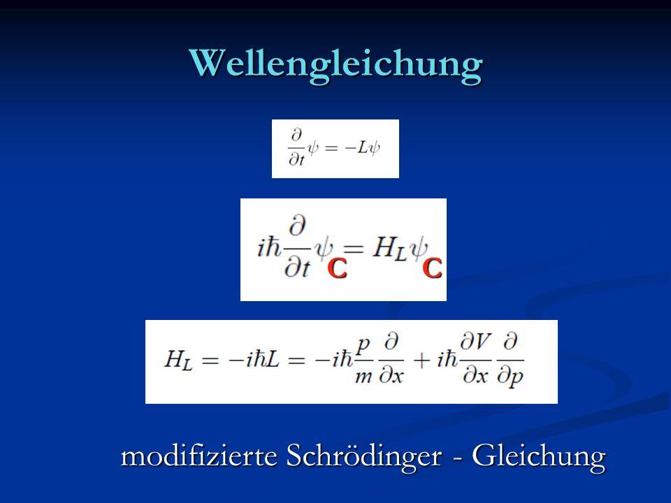 Wellengleichung modifizierte Schrödinger - Gleichung CC