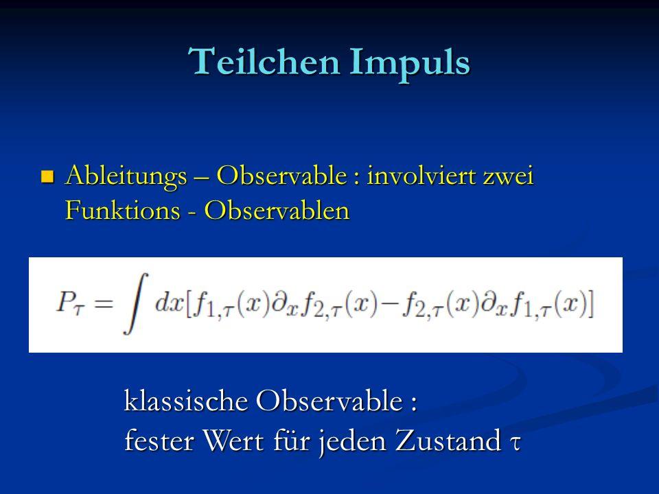 Teilchen Impuls Ableitungs – Observable : involviert zwei Funktions - Observablen Ableitungs – Observable : involviert zwei Funktions - Observablen kl