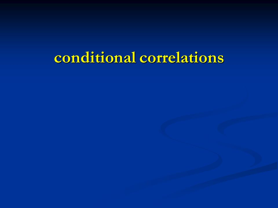 conditional correlations
