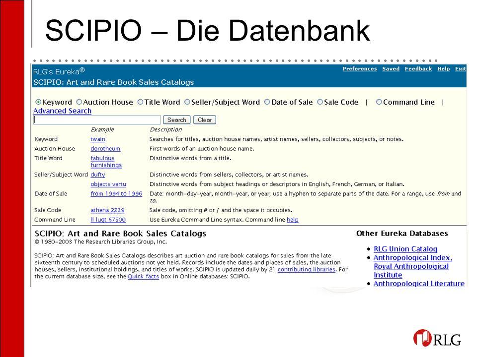 SCIPIO – Die Datenbank