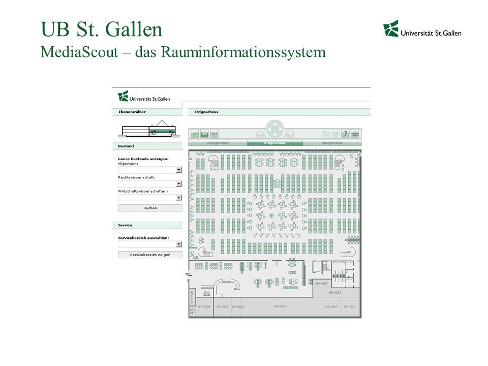 UB St. Gallen MediaScout – das Rauminformationssystem