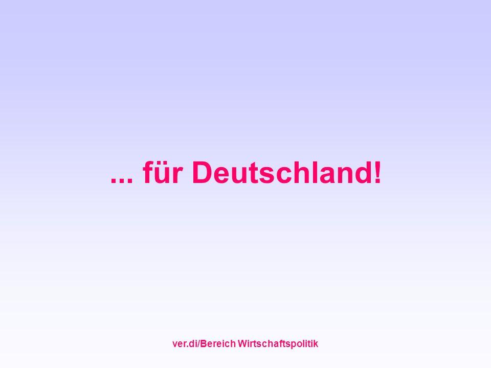 ver.di/Bereich Wirtschaftspolitik... für Deutschland!