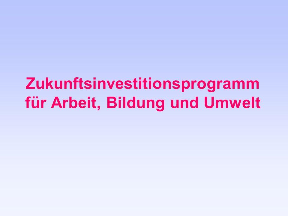 Zukunftsinvestitionsprogramm für Arbeit, Bildung und Umwelt