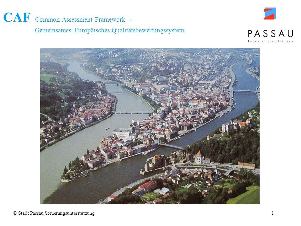 CAF Common Assessment Framework - Gemeinsames Europäisches Qualitätsbewertungssystem © Stadt Passau Steuerungsunterstützung1