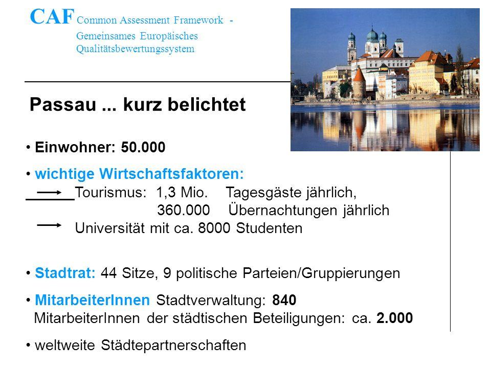 Passau... kurz belichtet Einwohner: 50.000 wichtige Wirtschaftsfaktoren: Tourismus: 1,3 Mio. Tagesgäste jährlich, 360.000 Übernachtungen jährlich Univ