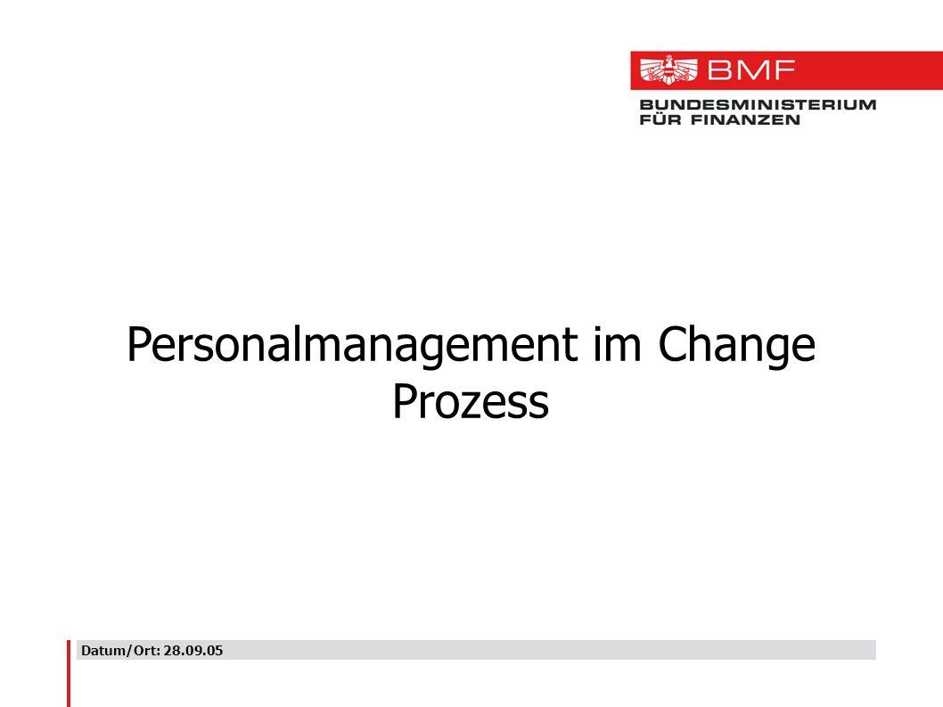 Datum/Ort: 28.09.05 Personalmanagement im Change Prozess