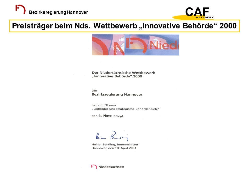 Preisträger beim Nds. Wettbewerb Innovative Behörde 2000