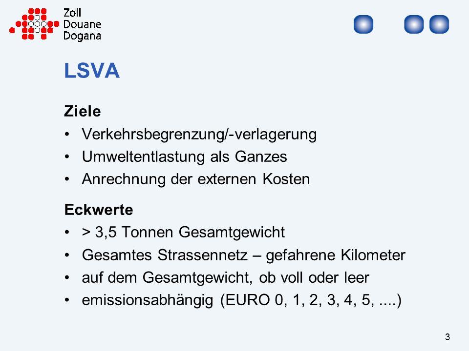 4 LSVA Start / Betrieb LSVA termingerechte Einführung auf 01.01.2001 Verdienst aller Beteiligten keine zusätzlichen Staus an der Grenze Kundenzufriedenheit erreicht Einnahmen 2001 – 2004jährlich rund 510 Mio.