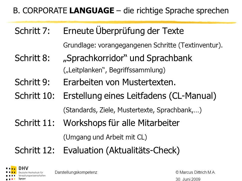 © Referent / Referentin Datum Thema des Referats Schritt 7:Erneute Überprüfung der Texte Grundlage: vorangegangenen Schritte (Textinventur).