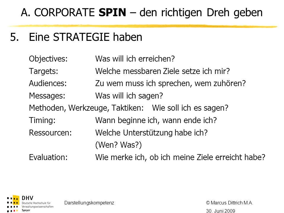 © Referent / Referentin Datum Thema des Referats 5.Eine STRATEGIE haben Objectives:Was will ich erreichen? Targets:Welche messbaren Ziele setze ich mi