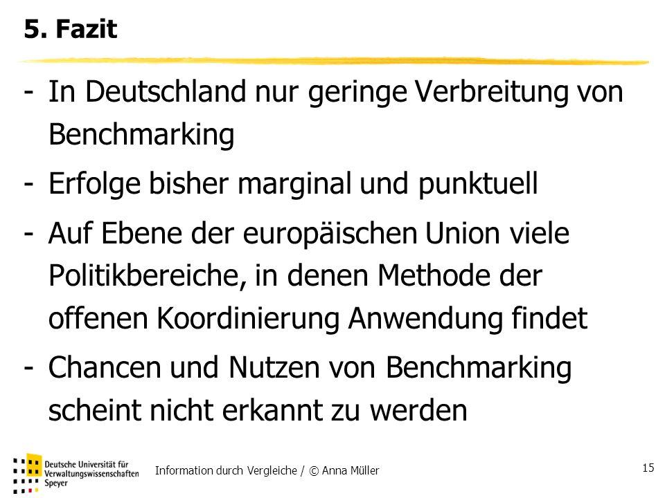 Information durch Vergleiche / © Anna Müller 15 5.