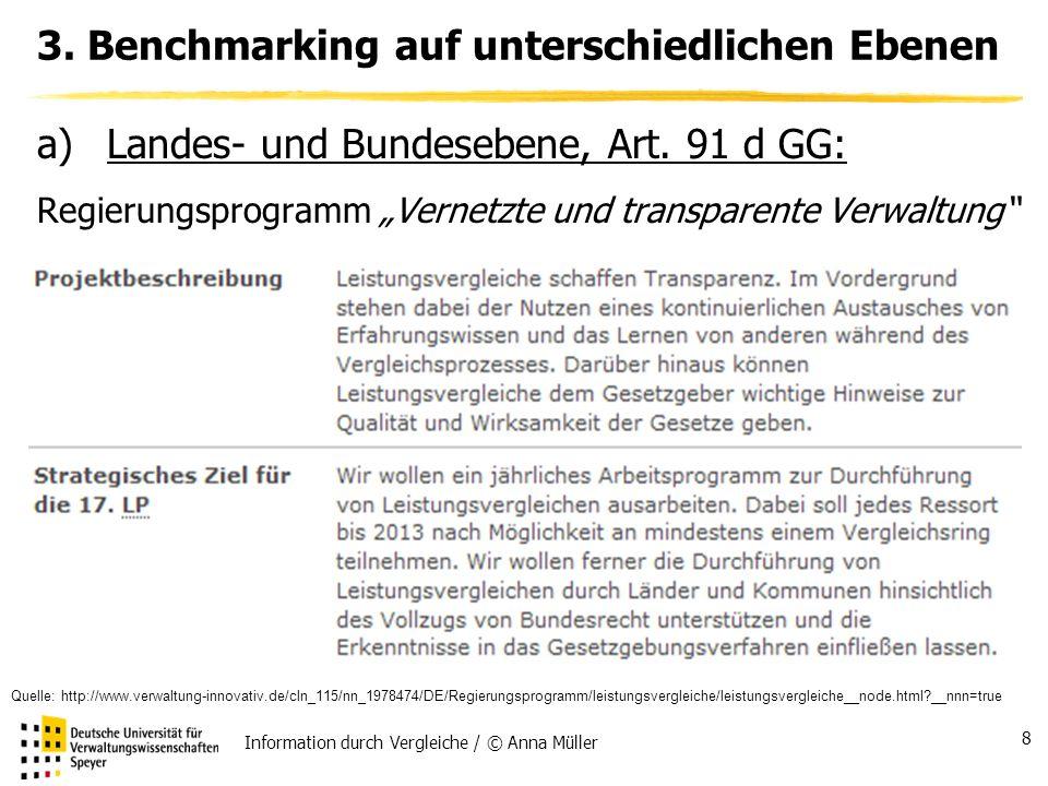 Information durch Vergleiche / © Anna Müller 8 3.