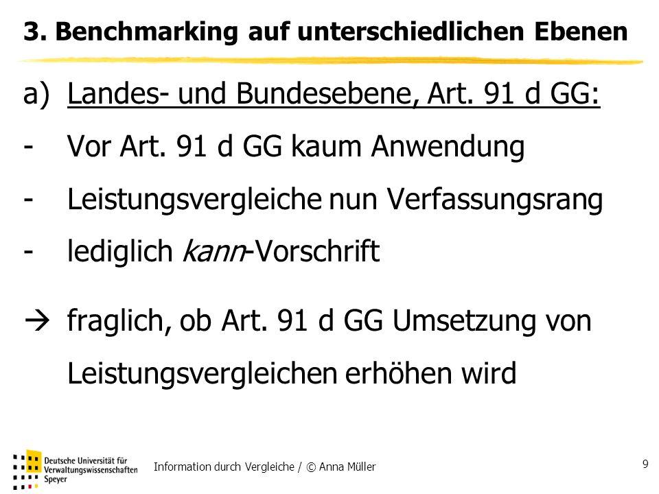 Information durch Vergleiche / © Anna Müller 9 3.