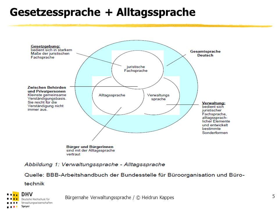 Bürgernahe Verwaltungssprache / © Heidrun Kappes 5 Gesetzessprache + Alltagssprache