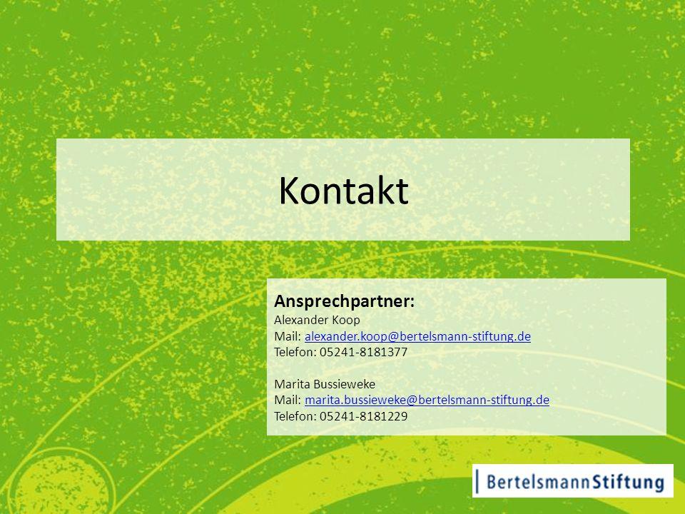 Kontakt Ansprechpartner: Alexander Koop Mail: alexander.koop@bertelsmann-stiftung.dealexander.koop@bertelsmann-stiftung.de Telefon: 05241-8181377 Mari