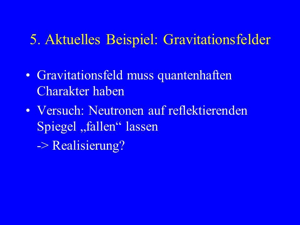 4. Ausblick aus damaliger Sicht größte Entdeckung seit Newton/ Kopernikus: h (=6,626...EE-34) Einstein: Lichtquanten 1911 Krisensitzung führender Phys