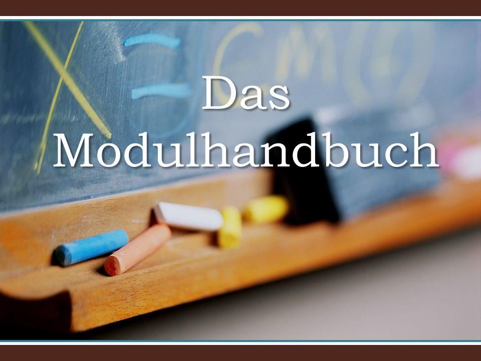Das Modulhandbuch