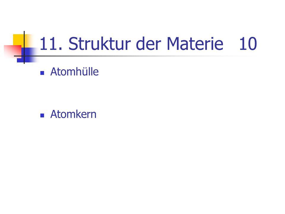 11. Struktur der Materie10 Atomhülle Atomkern