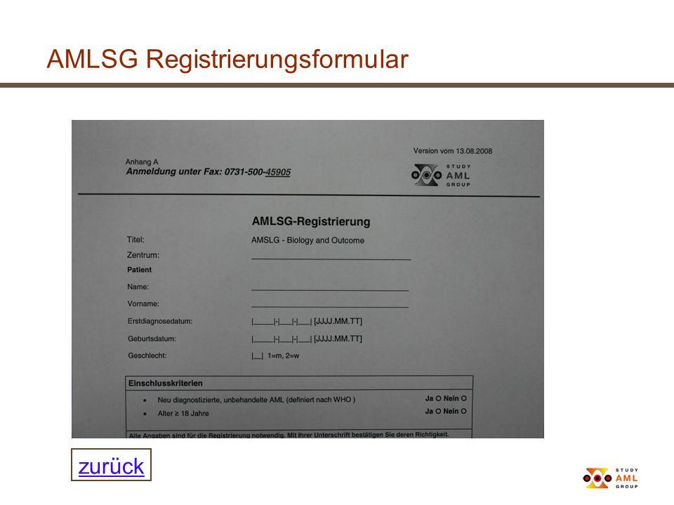 AMLSG Registrierungsformular