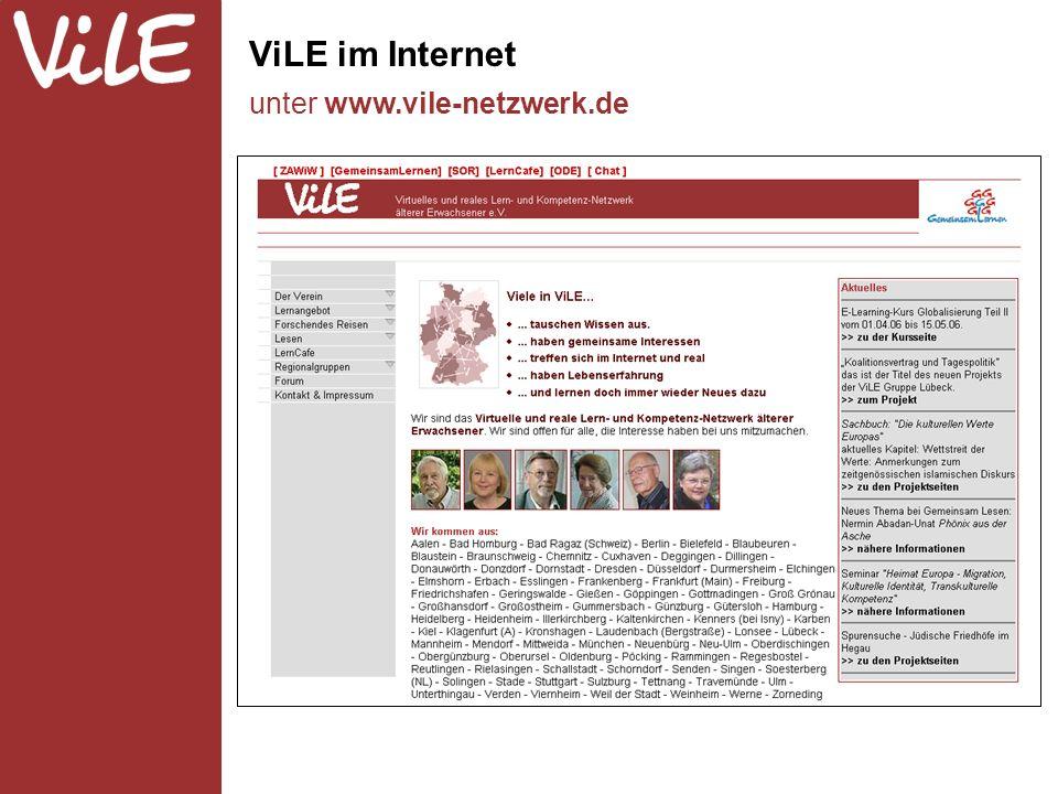 ViLE im Internet unter www.vile-netzwerk.de