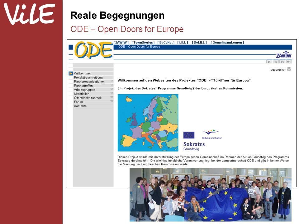 Reale Begegnungen ODE – Open Doors for Europe