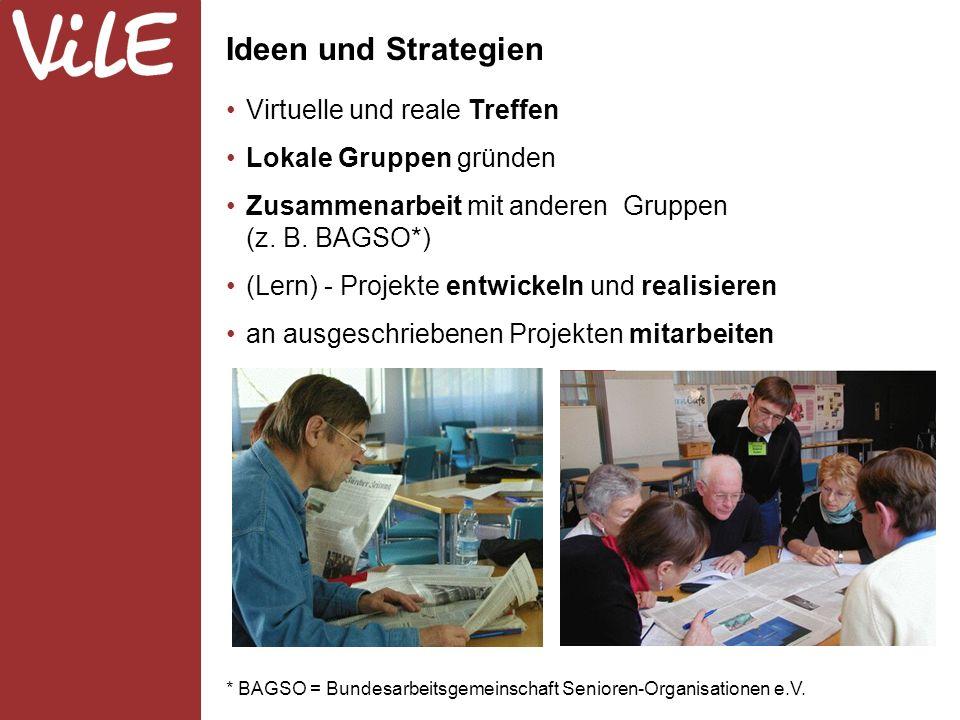 * BAGSO = Bundesarbeitsgemeinschaft Senioren-Organisationen e.V.