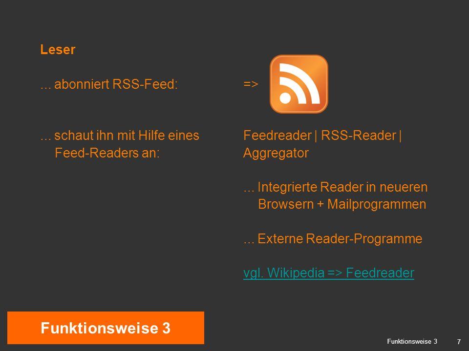 7 Funktionsweise 3 Leser... abonniert RSS-Feed:...