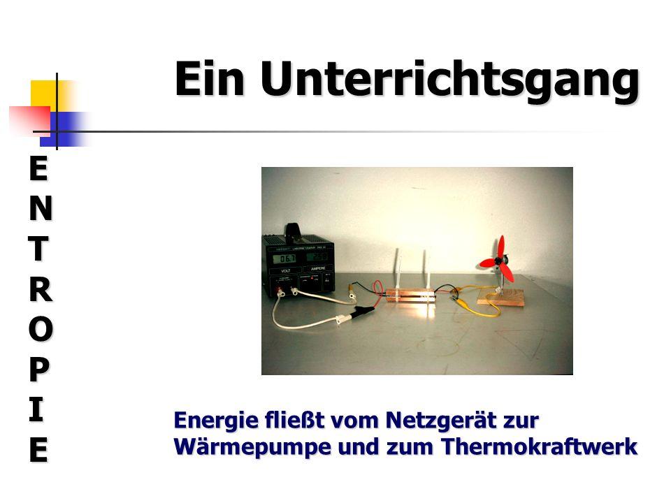 Ein Unterrichtsgang ENTROPIEENTROPIEENTROPIEENTROPIE Das, was durch das Thermokraftwerk hindurchströmt und thermische Energie transportiert, nennt man Entropie