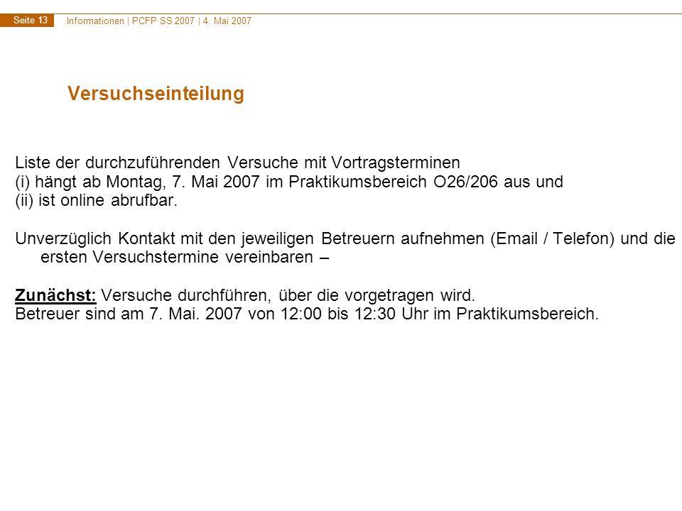 Informationen | PCFP SS 2007 | 4.